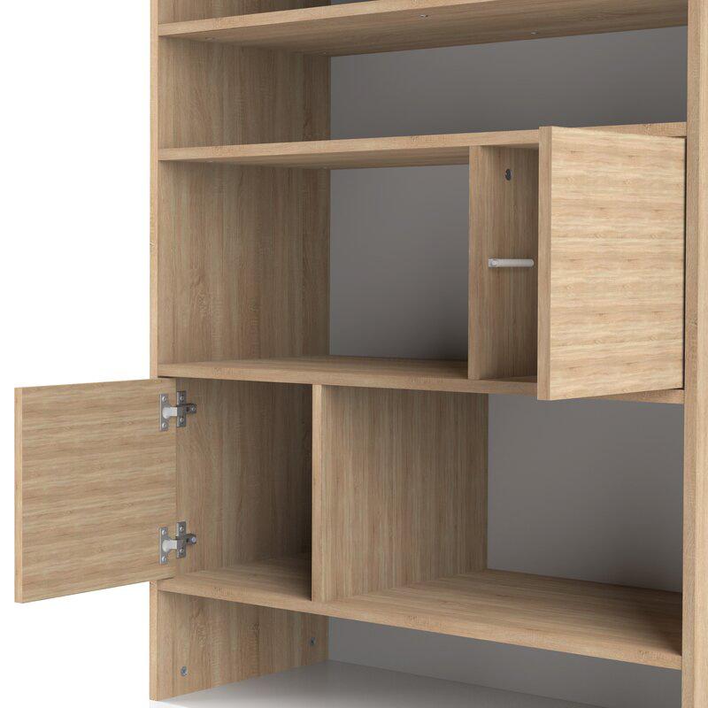 Kệ gỗ thiết kế 4 cánh mở với nút nhấn (không dùng tay nắm dương)