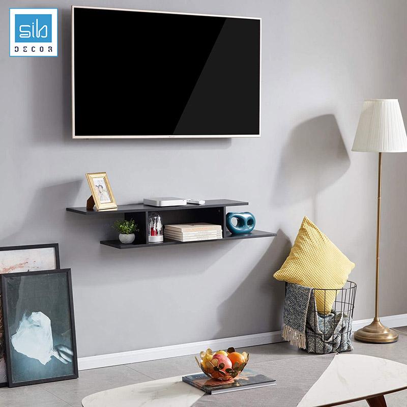 Kệ tivi trang trí treo tường đơn giản TV78 màu đen