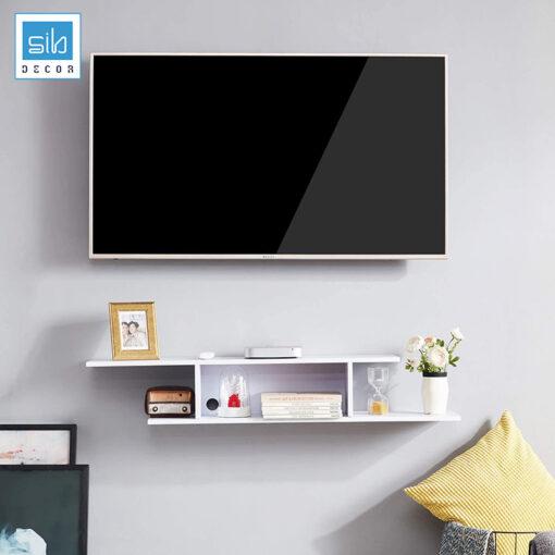 Kệ tivi trang trí treo tường đơn giản TV78 màu trắng