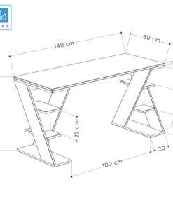 Kích thước bàn làm việc BLV52