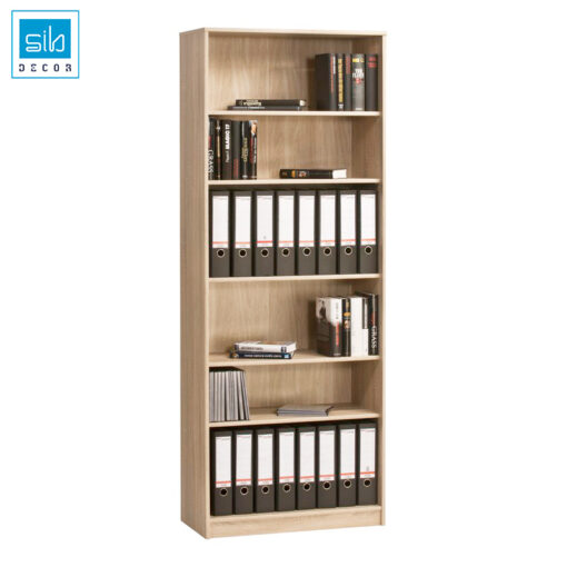 Tủ tài liệu màu vân gỗ sồi hiện đại