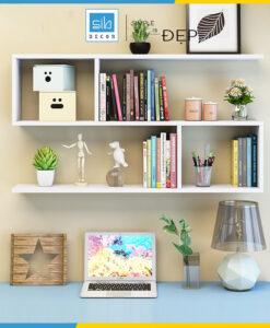 Kệ sách treo tường 3 tầng KT236 màu trắng