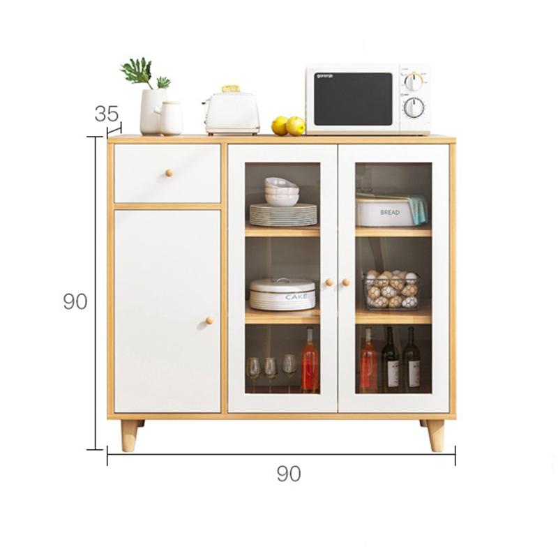 Tủ bếp chân gỗ tự nhiên 90x90x35cm