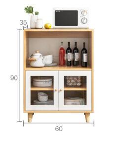 Tủ bếp chân gỗ tự nhiên 60x90x35cm