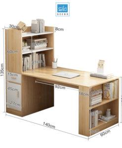 Kích thước chi tiết bàn làm việc BLV04