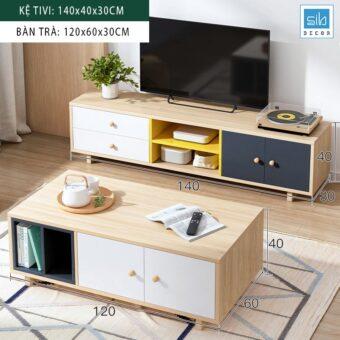 TV06_Kệ Tv 140cm + Bàn trà