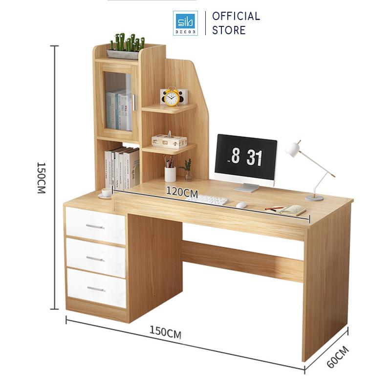 Kích thước chi tiết bàn làm việc BLV09