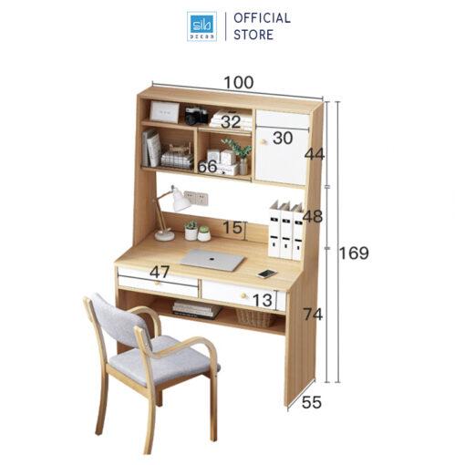 Kích thước chi tiết bàn làm việc BLV13