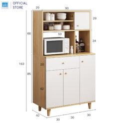 Kích thước chi tiết của tủ bếp 163x90x40cm