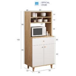 Kích thước chi tiết của tủ bếp 163x60x40cm