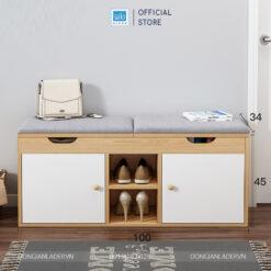 Tủ giày đa năng TG17 có 02 ngăn chứa đồ và hệ nệm ngồi tiện lợi
