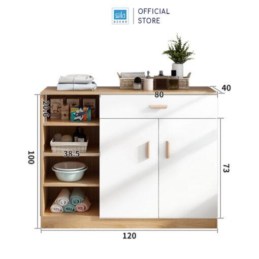 Kích thước chi tiết tủ gỗ đa năng KG25
