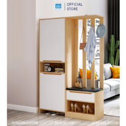 Tủ ngăn phòng được làm đẹp cả mặt trước và mặt sau tủ