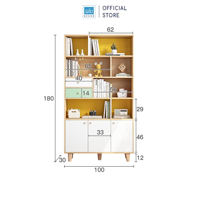 Kích thước chi tiết tủ gỗ 180x100x30cm