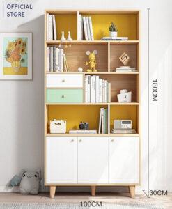 Tủ sách gỗ cỡ lớn (180x100x30cm)