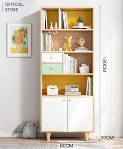 Tủ sách gỗ cỡ nhỏ (180x60x30cm)