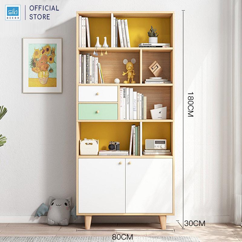 Tủ sách gỗ cỡ vừa (180x80x30cm)