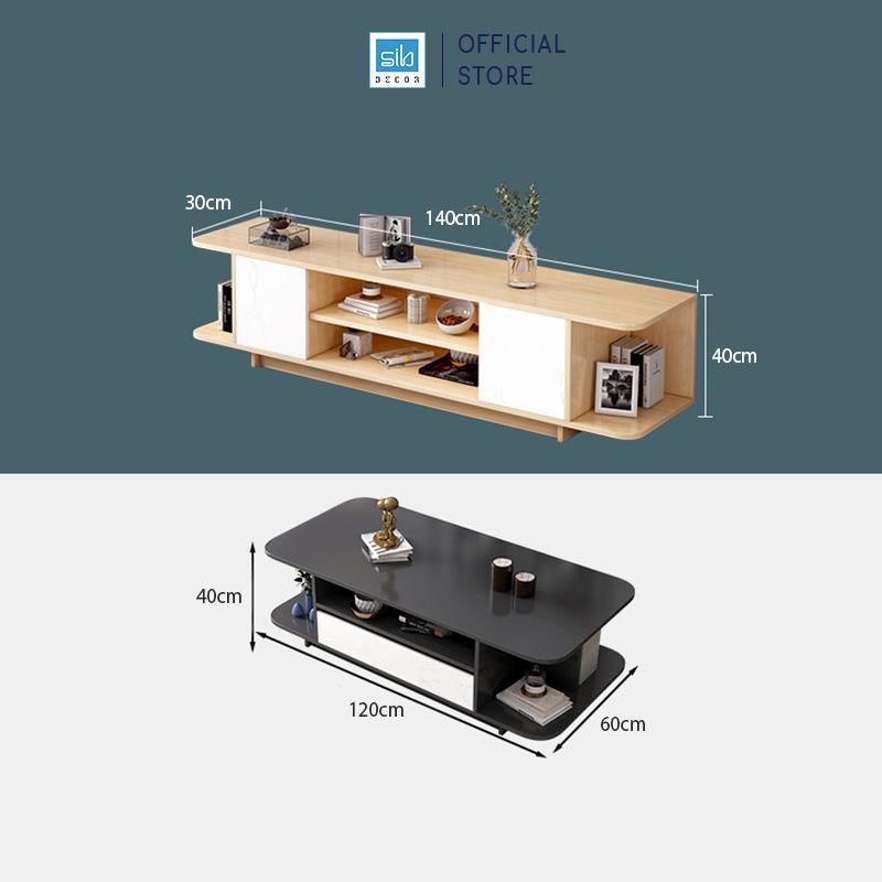 Kích thước kệ tivi và bàn trà TV10