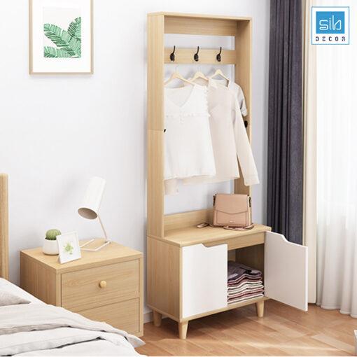 Kệ có thể để ở ngay lối vào nhà hoặc ở trong phòng ngủ