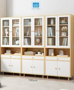 Bộ 3 tủ gỗ để đồ nhà bếp KS21