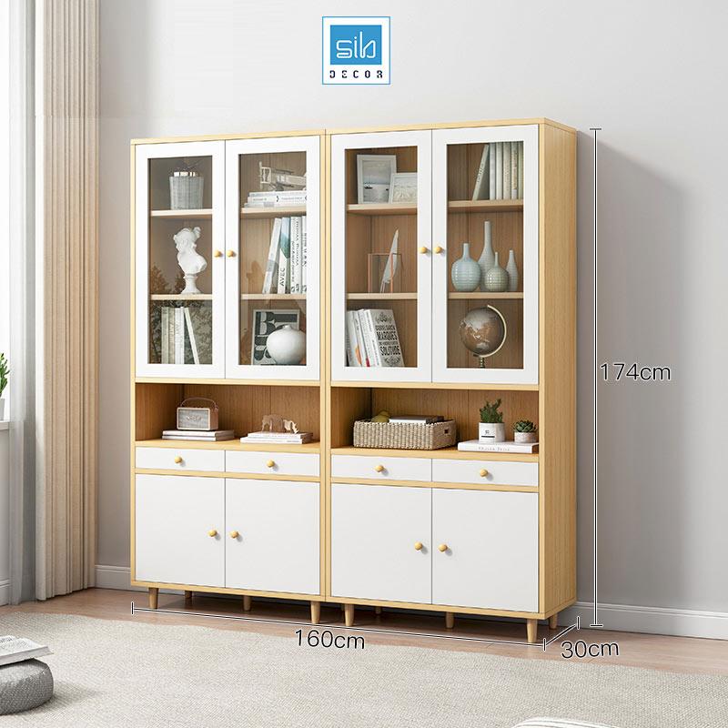 Bộ gồm 2 tủ gỗ để đồ nhà bếp KS21
