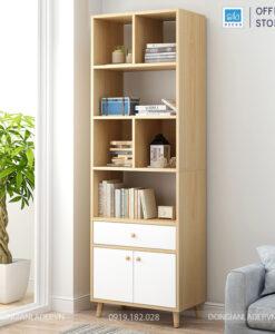 Kệ sách 180x60x30cm bên sofa phòng khách
