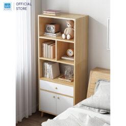 Kệ sách 150x60x30cm đặt cạnh giường phòng ngủ