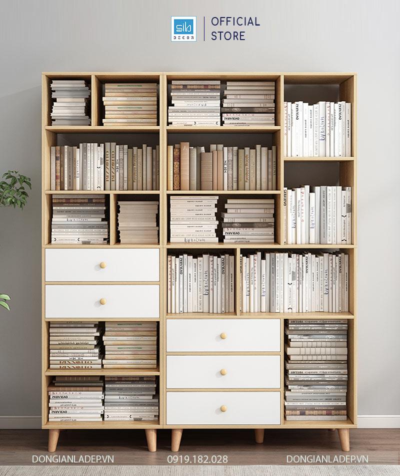 Chiếc tủ sách có sức chứa hàng trăm cuốn sách