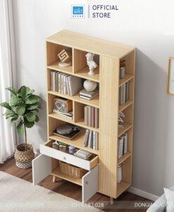Tủ sách đơn giản đặt tại phòng khách