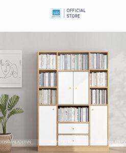 Cân đối, đơn giản và hiện đại. Chiếc tủ sách có thể chứa được vài trăm cuốn