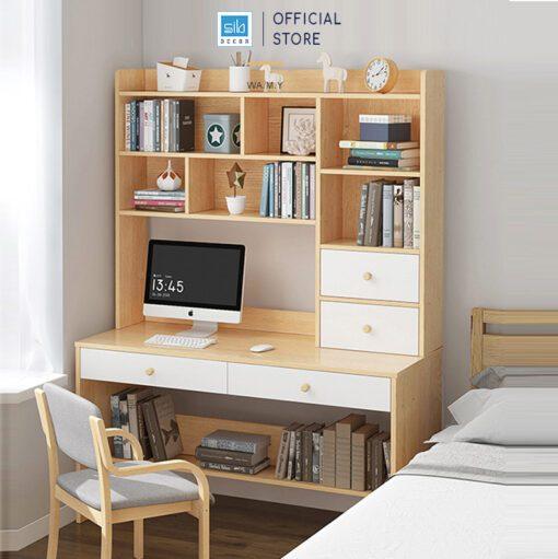 Chiếc bàn làm việc, học tập đặt tại phòng ngủ