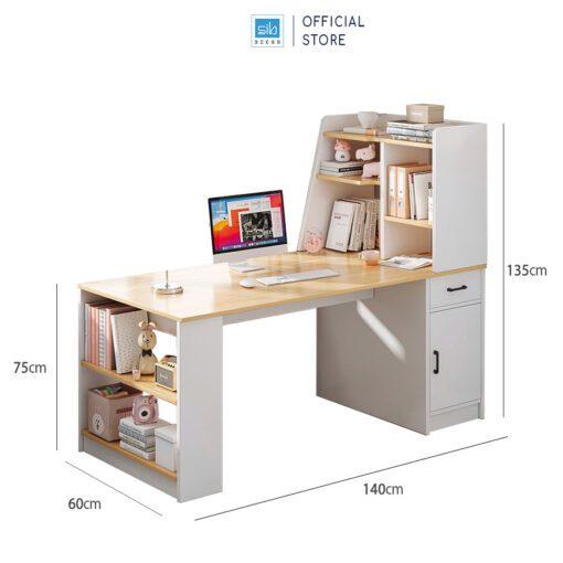 Kích thước chi tiết bàn làm việc, bàn học BLV60